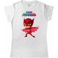 Art T-Shirt - Pijamaskeliler Baykuş Kiz Çocuk Tişört