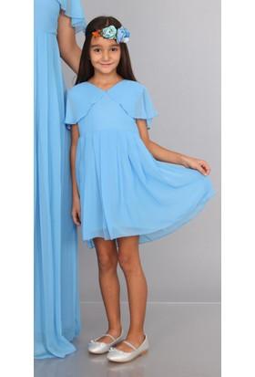 73157431f5a2f ... Moda Labio - Melek Kol Kız Çocuk Elbisesi Bebe Mavi ...