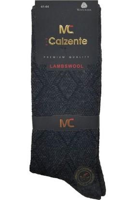 Mia Calzente 3 Adet Lambswool Yün Erkek Çorap