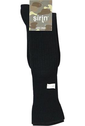 Şirin Çorap Kalın Asker Uzun Konç Erkek Çorap -Bot Çorabı