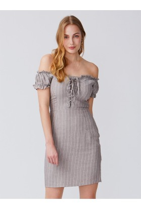 1a5ce04072d3b Dilvin 9034 Sırtı Gipeli Yaka Fırfırlı Elbise-Natural. 149,99 TL. Bu ürünün  farklı seçenekleri vardır · Dilvin 9989 Kuşgözlü Çizgili Elbise-Vizon ...