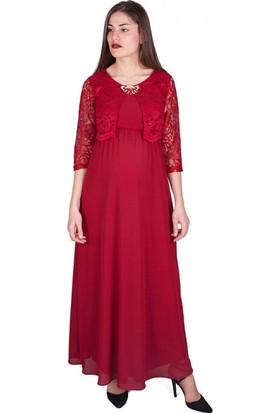 Işşıl Hamile Giyim Dantel Cepken Abiye Elbise