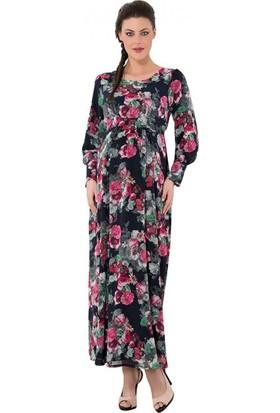 1742575abc4fa Işşıl Hamile Giyim Desenli Tesettür Elbise Işşıl Hamile Giyim Desenli Tesettür  Elbise ...