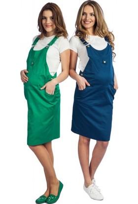 Işşıl Hamile Giyim Renkli Keten Bahçıvan Etek