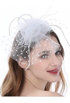 Bba New Trend Nikah Düğün Şapkası Vualet Toka