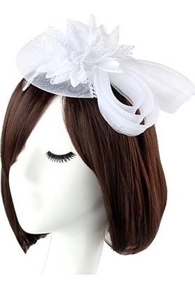 Bba New Trend Tüllü Nikah Şapkası Düğün Şapkası Vualet Gelin Kepi