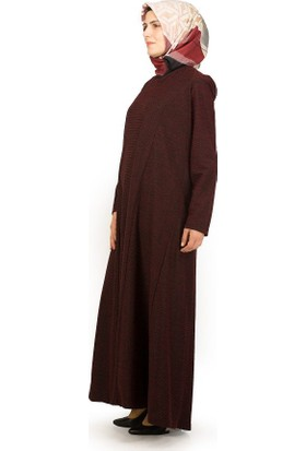 Sofmina Elbise Nks18K046 - Siyah-Bordo