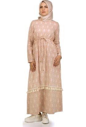 Sofmina Elbise Nvsy18Y017 - Pudra