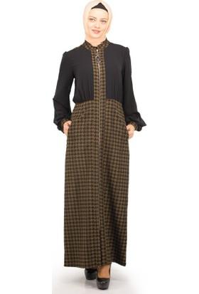 Sofmina Elbise Nks18K009 - Siyah-Kahve