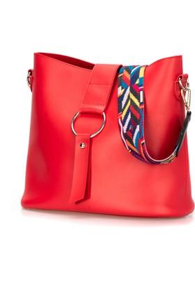 b2630c1e7d762 C Kırmızı Kadın Omuz Çantası Polaris 91.960.625.C Kırmızı Kadın Omuz Çantası  ...