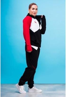 Cazador Siyah Kadın Kapşonlu Sweatshirt