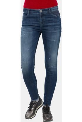 Cazador Dark Blue Wash Kadın Denim Pantolon