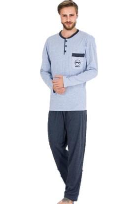 Güneş 5431 Uzun Kol Mevsimlik Erkek Pijama Takımı