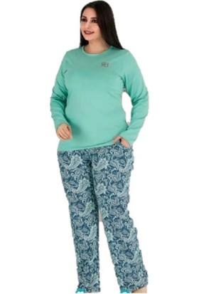 Berland 3143 Kadın Modal Uzun Kol Battal Pijama Takım