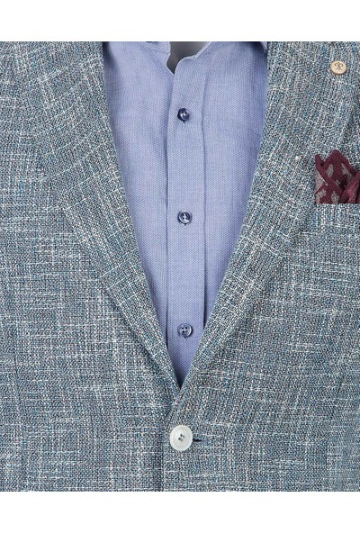 D's Damat Slim Fit Mavi Kumaş Ceket