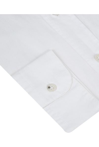 D's Damat Comfort Beyaz Gömlek