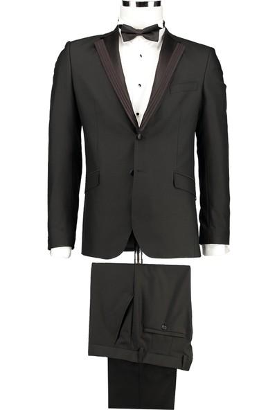 D's Damat Slim Fit Siyah Takım Elbise