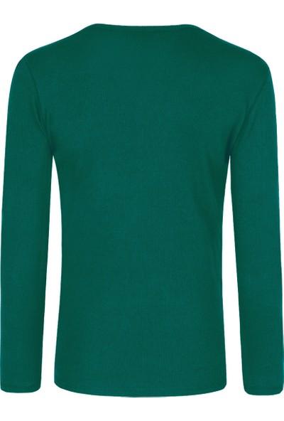 Tween Slim Fit Yeşil Sweatshirt