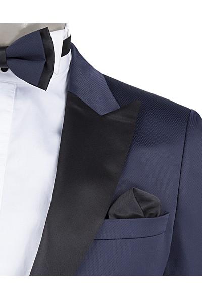 D's Damat Slim Fit Lacivert Takım Elbise