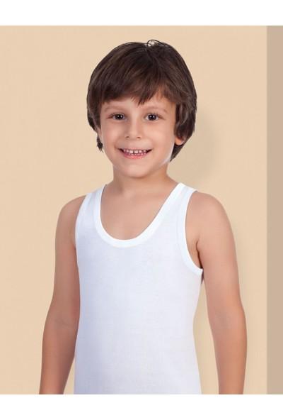 Şahinler Erkek Çocuk Beyaz Geniş Askılı Ribana Atlet MEC020