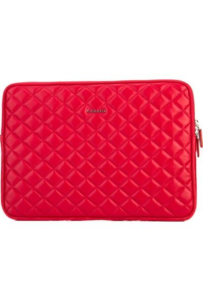 Cabani Desenli Notebook- İpad-Tablet-Evrak Günlük Çanta Kırmızı Deri