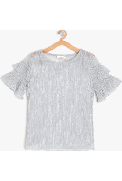 Koton Kol Detaylı T-Shirt