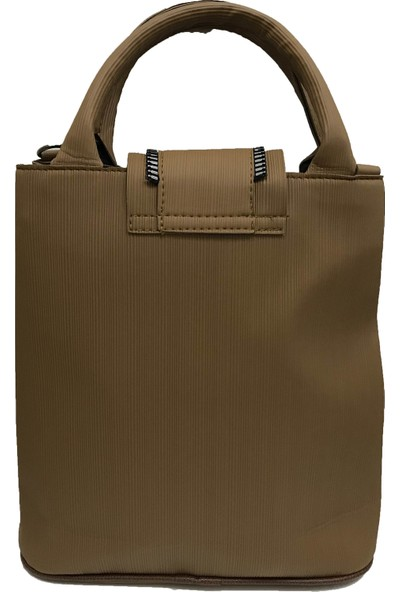 Çanta Stilim Suni Deri Çift Bölmeli Taba Renk El Ve Çapraz Kadın Çantası
