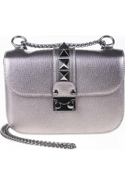 Bilik Fashion Kadın Çapraz Askılı Çanta Gümüş 650