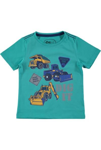 Civil Erkek Çocuk Tişört 2-5 Yaş Mint Yeşili