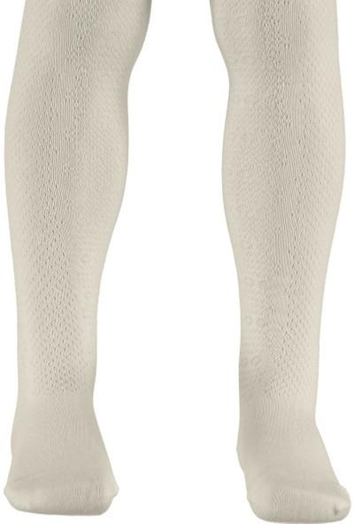 Civil Kız Çocuk Külotlu Çorap 3-11 Yaş Ekru