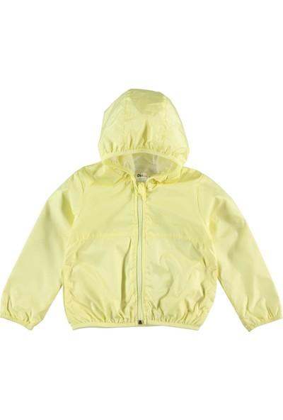 Civil Kız Çocuk Kapüşonlu Yağmurluk 2-5 Yaş Sarı