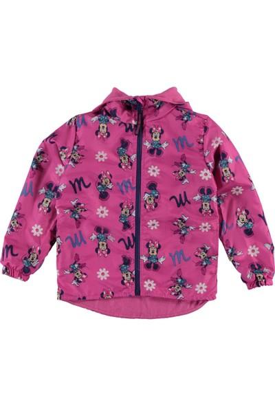 Minnie Mouse Kız Çocuk Kapüşonlu Yağmurluk 3-5 Yaş Fuşya