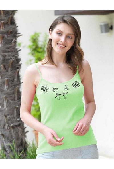Şahinler Kadın Yeşil İp Askılı Atlet D-14