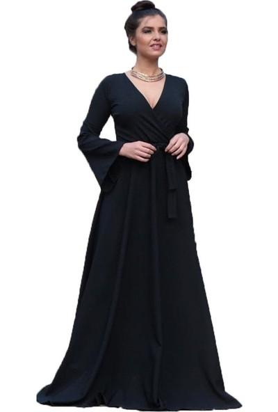 Barevsu Scuba Kumaş Uzun Kiloş Kadın Abiye Elbise 544 Uzun