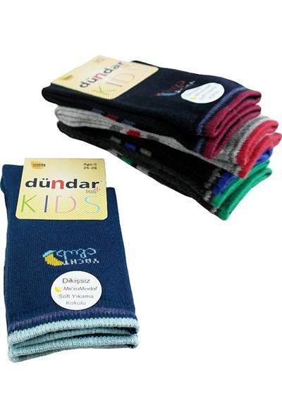 Dündar Modal Dikişsiz Erkek Çocuk Çorap 6 Adet 23-25 Numara
