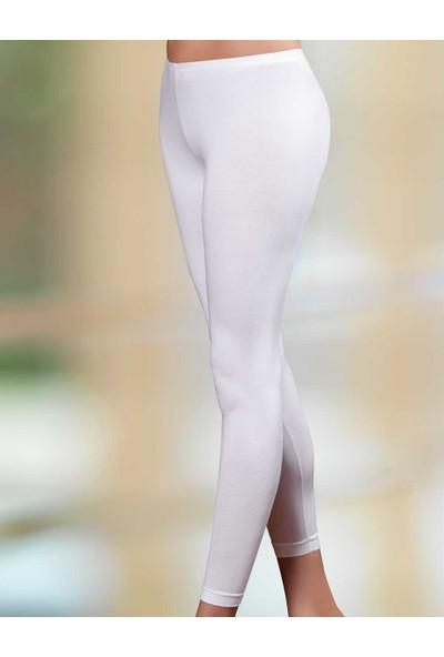 Şahinler Kadın Uzun Paça Tayt Beyaz MB886