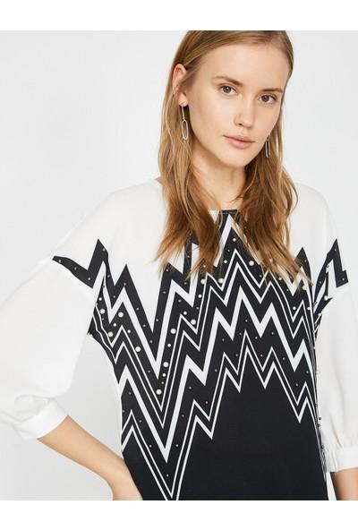 Koton İnci Detaylı Bluz