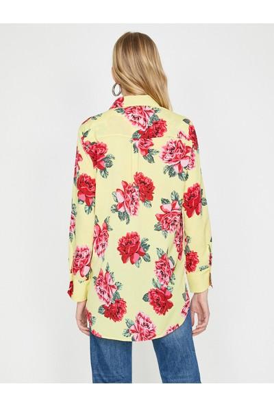 Koton Çiçekli Gömlek
