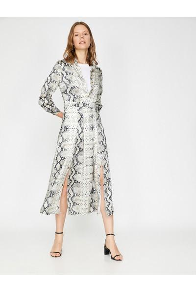 Koton Yılan Derisi Desenli Elbise