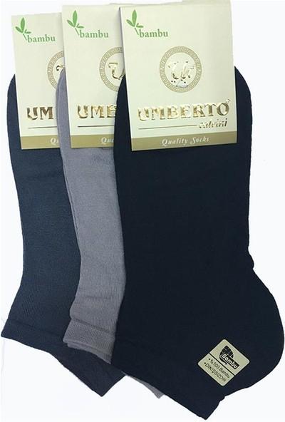 Umberto Calvini Umberto 6 Adet Erkek Doğal Bambu Patik Çorap 307