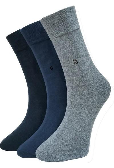 Şirin Çorap 3 Lü Dikişsiz Likralı Pamuk Erkek Çorap 7350