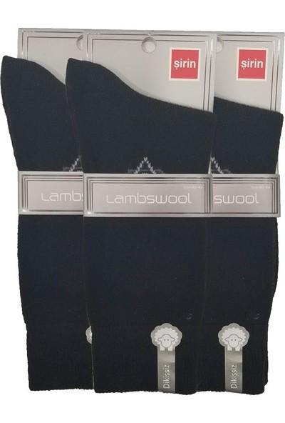 Şirin Çorap Lambswool Yünlü 3 Adet Erkek Çorap 8645