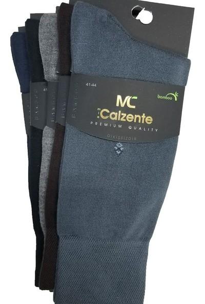 Mia Calzente 6 Lı Doğal- Bambu Likralı Erkek Çorap