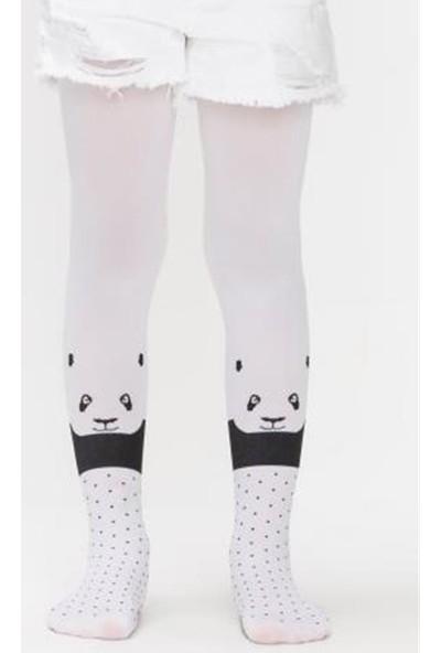 Penti Kız Çocuk Panda Head Külotlu Çorap