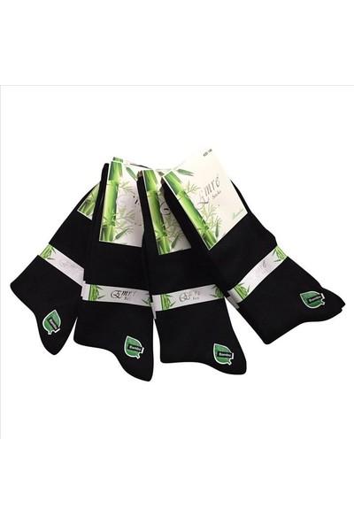 Emre 6 Lı Siyah Bambu Erkek Çorap