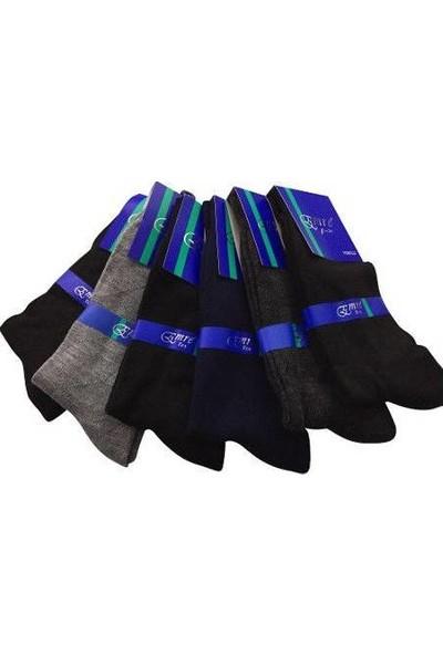Emre 6 Lı Çift Tabanlı Erkek Çorap Dikişsiz
