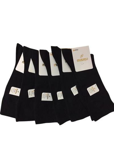 Mısırlı 6 Lı Siyah Lastiksiz Modal Erkek Çorap