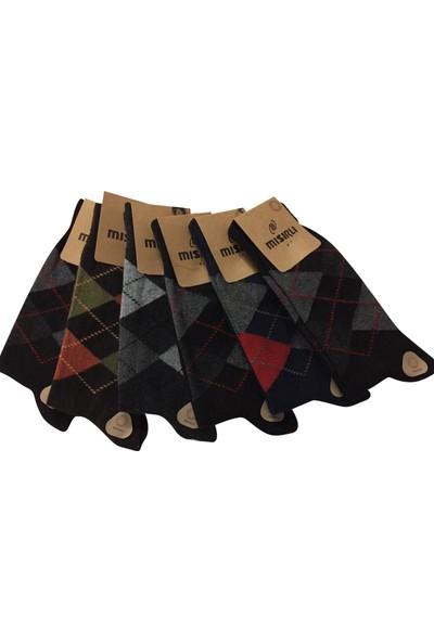 Mısırlı 6 Lı Lambswool Ekose Desenli Erkek Çorap