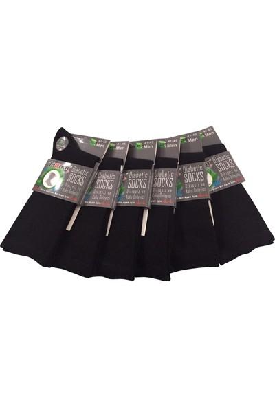 Dündar 6 Lı Siyah Bambu Çorap (Şeker Çorap)