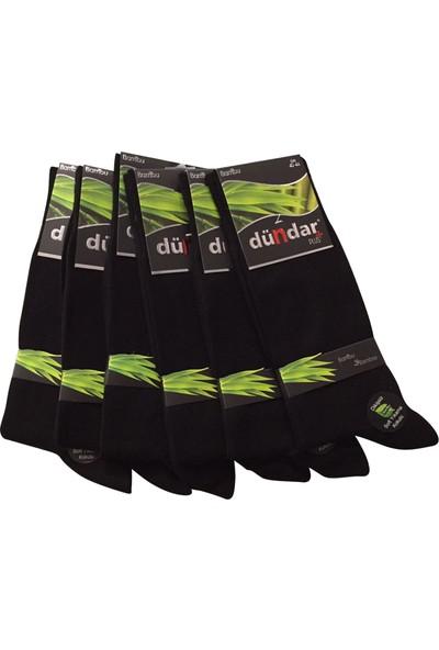 Dündar 6 Lı Siyah Dikişsiz Bambu Erkek Çorap